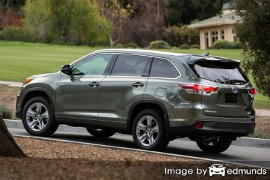 Discount Toyota Highlander Hybrid insurance